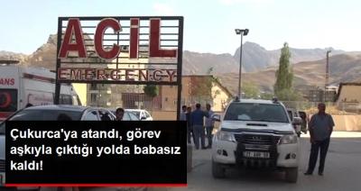 Çukurca'da Dağdan Kopan Kaya Otomobilin Üstüne Düştü! Genç Öğretmen Atandığı Yere Giderken Babasız Kaldı!