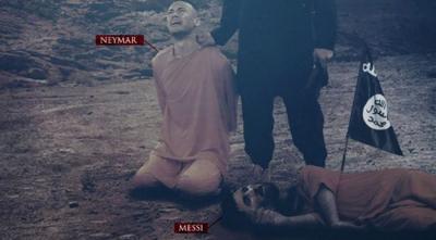 DEAŞ'tan Tüyler Ürperten Tehdit! Bu Defa Neymar'ın Görselini Kullandılar