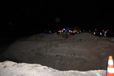 Erzurum'da Kaza Bölgesine Giden Asker Yoldaki Dev Çukura Düştü!