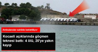 Facia! Kocaeli Kefken'de Göçmen Teknesi Battı: 4 Ölü, 20 Kayıp