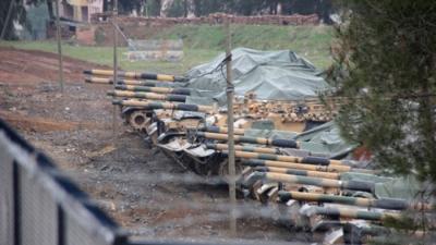 """Her An Her Şey Olabilir! Erdoğan'ın """"Her An Afrin'e Girebiliriz"""" Açıklamasının Ardından, Tank ve Zırhlılar Hazır Kıtada Bekliyor"""