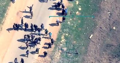 İHA'lar Görüntüledi! Afrin'deki Teröristler Sivillerin Kaçışını Engellemek İçin Hendek Kazmaya Başladı