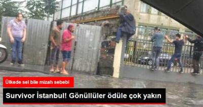 İstanbul'u Sel Bastı Twitter Mizahşörleri Sahneye Çıktı: Survivor İstanbul!