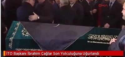 Kalp Krizi Sonucu Hayatını Kaybeden İTO Başkanı İbrahim Çağlar Son Yolculuğuna Uğurlandı