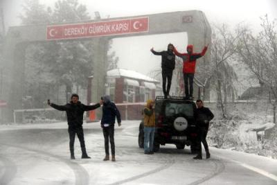 Kar Yağışı Kırklareli'ni Beyaza Bürüdü