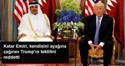Katar Emiri'nden Kendisini Ayağına Çağıran Trump'a Yanıt Geldi! Beyaz Saray Teklifini Reddetti!