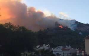 Marmaris'teki Yangın Korkuttu
