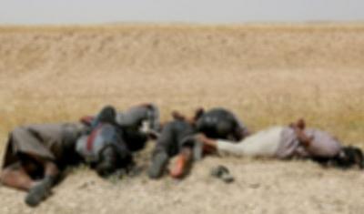 Musul'da Terör Örgütü DEAŞ Sivilleri Katlederek Yol Kenarına Atmaya Başladı