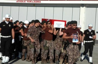 Şehit Özel Harekat Polisi Muhammet Ali Mevlüt Dündar'ın Silah Arkadaşlar Dua Biter Bitmez Tabutuna Koştu!