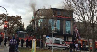 Son Dakika! BBP Genel Merkezi'nde Önce Patlama, Ardından Yangın! Yangının Genel Başkan Mustafa Destici'nin Makam Odasında Çıktığı İddia Ediliyor