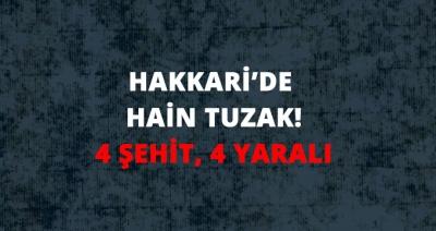Son Dakika! Hakkari Yüksekova'da Askeri Araca Hain Tuzak: 4 Şehit, 4 Yaralı
