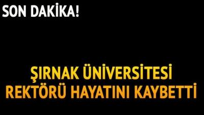 Son Dakika! Kalp Krizi Geçiren Şırnak Üniversitesi Rektörü Hayatını Kaybetti!
