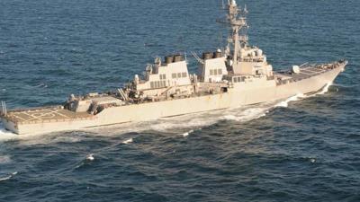 Tehlikeli Gerginlik! ABD Savaş Gemisi Yönünü Suriye'ye Çevirdi, Rus Jetleri Anında Havalandı