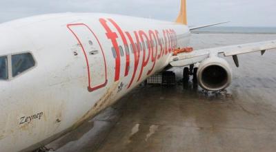 Trabzon'da Pistten Çıkan Uçak 20 Saat Süren Çalışma Sonunda Aprona Çekildi