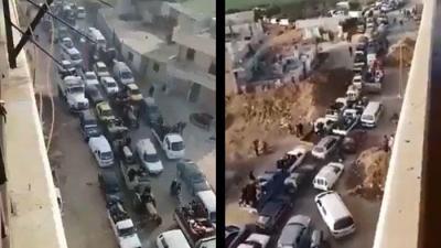TSK Resmen Duyurdu, Afrin Tamamen Kuşatıldı! Siviller Bölgeden Böyle Kaçıyor