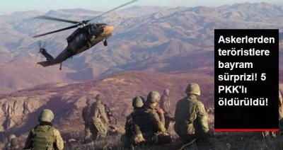 Tunceli'de PKK'ya Darbe! Operasyonlarda 5 Terörist Öldürüldü!