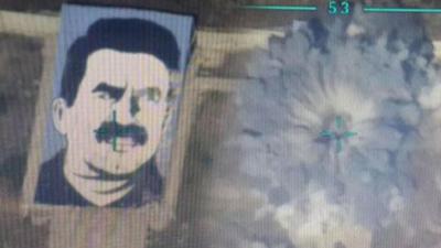 Afrin'deki Türk Jetlerinden Selam Var! YPG'nin Açtığı Terörist Başı Öcalan Posteri Paramparça Edildi