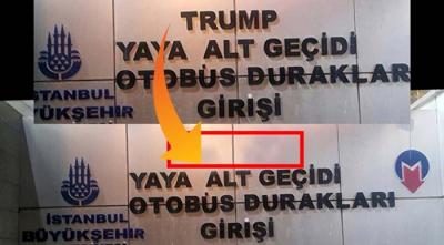 Türkiye'den Bir Tepki Daha! Şişli Metrosu'nda Trump AVM'yi Gösteren Tabelalar Söküldü?