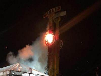 Üniversite Kampüsünde Korkutan Yangın! Kolpa Konseri Erken Bitti!