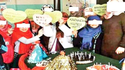 Yetkililer Harekete Geçti! Şanlıurfa'da Kız Öğrencilerin Başlarını Kapatıp Yüzlerine Maske Geçirerek Parti Yaptılar